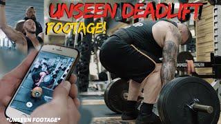 UNSEEN 450kg Speed Rep + full deadlift session