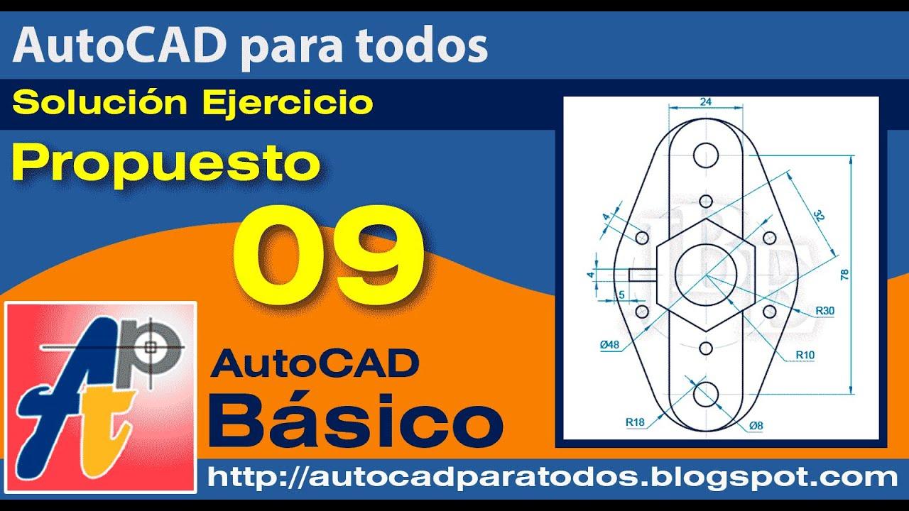 Solución Ejercicio Propuesto 09- AutoCAD Básico
