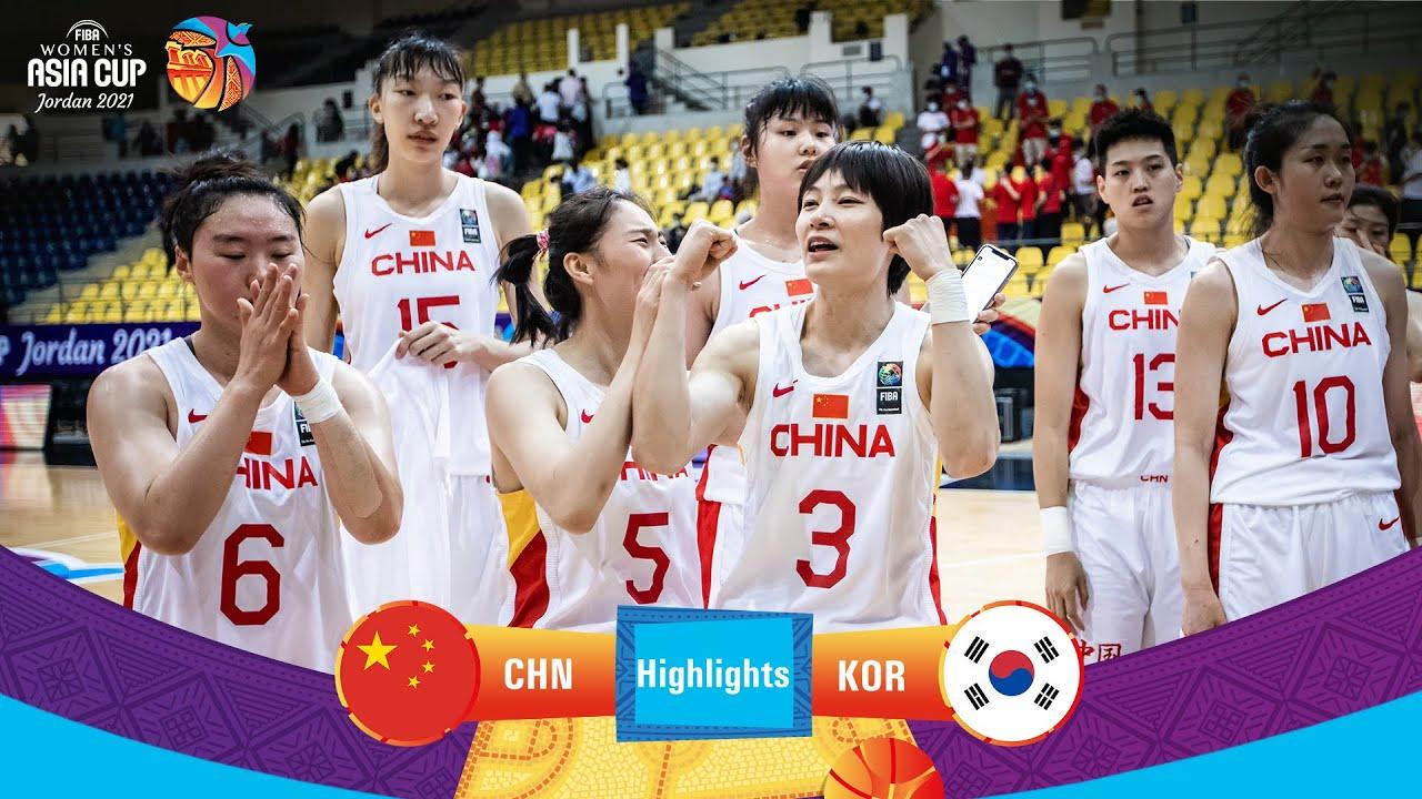 China - Korea   Highlights - FIBA Women's Asia Cup 2021