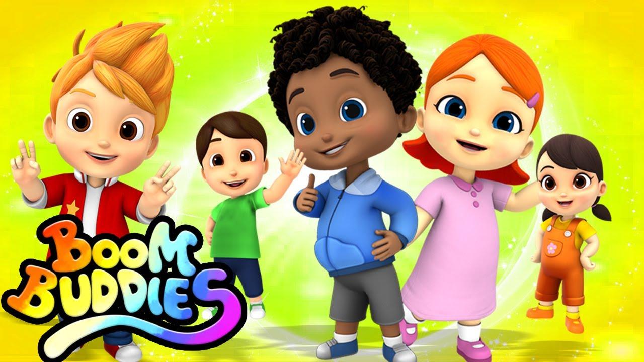 Canción dedo familia | Música para niños | Educación | Boom Buddies Español | Dibujos animados