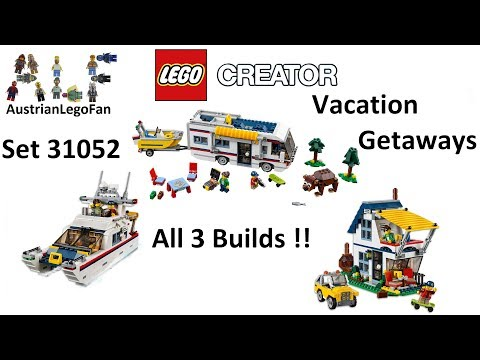 Lego Creator 31052 Vacation Getaways All 3 Builds !! - Lego Speed Build Review