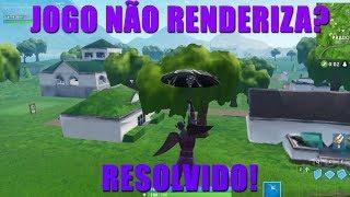 COMO ARRUMAR PARA RENDERIZAR O GRÁFICO DO FORTNITE! RESOLVIDO