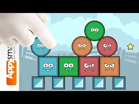 Blocks And Shapes Logic Puzzle Game For School Kids Walkthrough Worlds 1 And 2