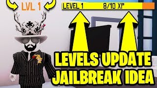 Roblox Jailbreak LEVELING SYSTEM UPDATE IDEA (Watch This Asimo3089 & Badcc)