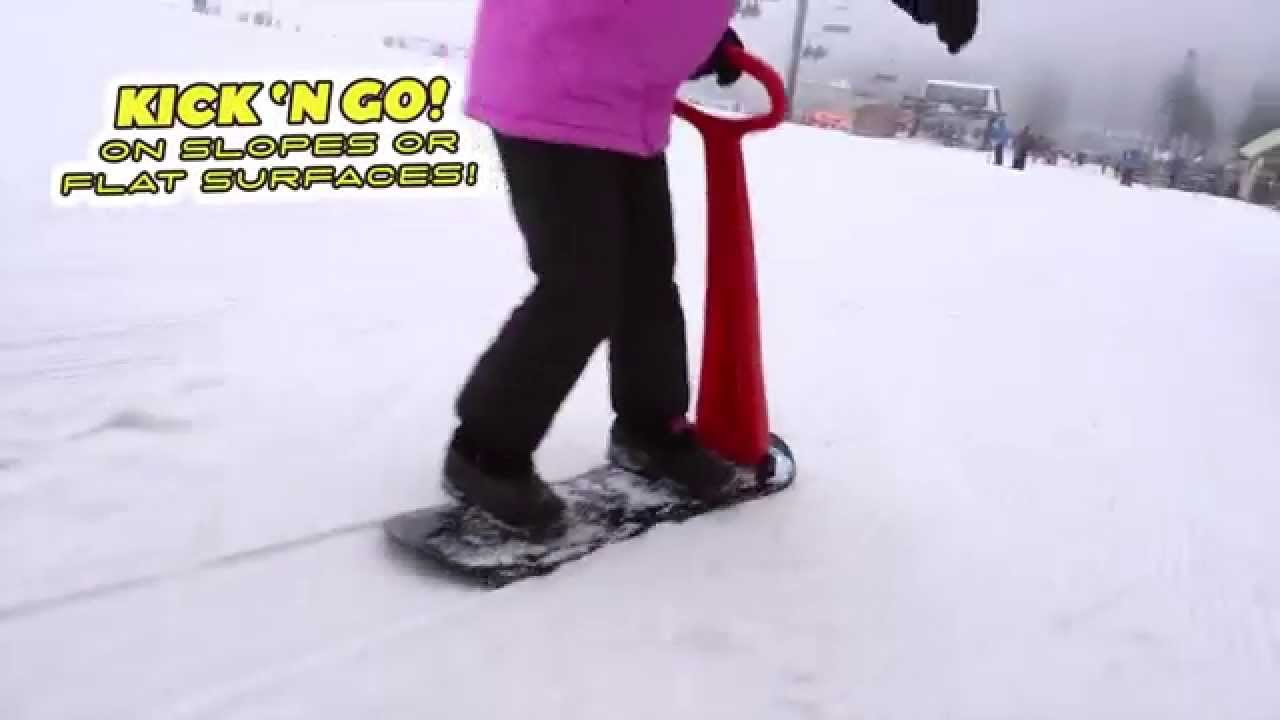 ski skooter easy fold up snowboard toy for kids by geospace youtube