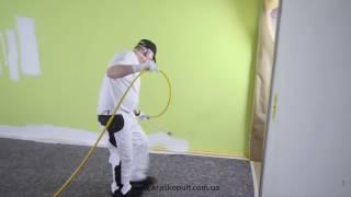 видео Краскопульты для покраски стен и потолка