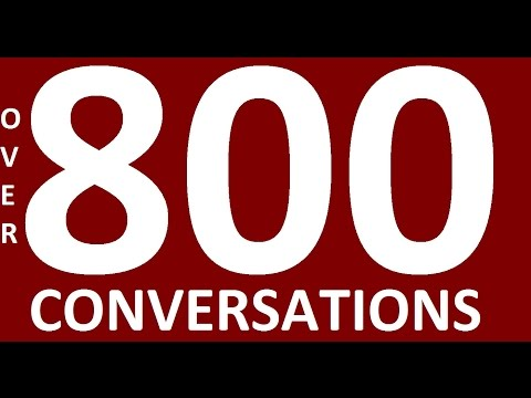 OVER 800 ENGLISH CONVERSATIONS. English Speaking Practice. Learn English conversation