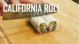 How to Make a California Sushi Roll | (加州寿司卷)