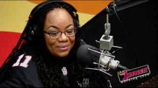 Comedian Ms. Pat visits the Tom Joyner Morning Show
