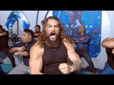 'Aquaman' Premiere Jason Momoa Performs Haka