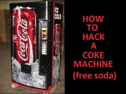 how to hack a coke machine for free soda youtube