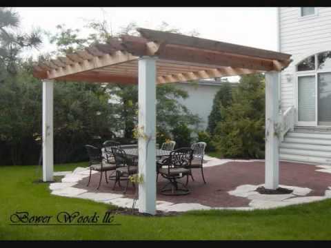 pergola de terrasse youtube. Black Bedroom Furniture Sets. Home Design Ideas