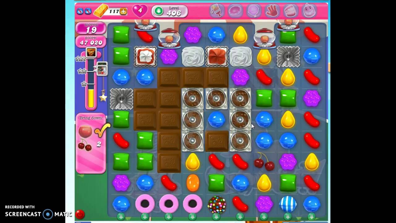 Candy Crush Level 406 w/audio tips, hints, tricks