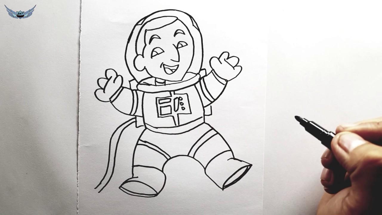 Kolay Astronot Nasil Cizilir Kolay Resim Cizme Youtube