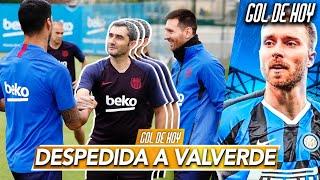 Así fue como MESSI y SUÁREZ despidieron a VALVERDE | AcuerdoEriksen-Inter | #goldehoy