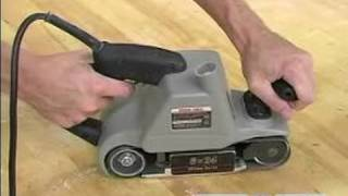 How To Use A Belt Sander : Understand The Best Hand Position When Using A Belt Sander