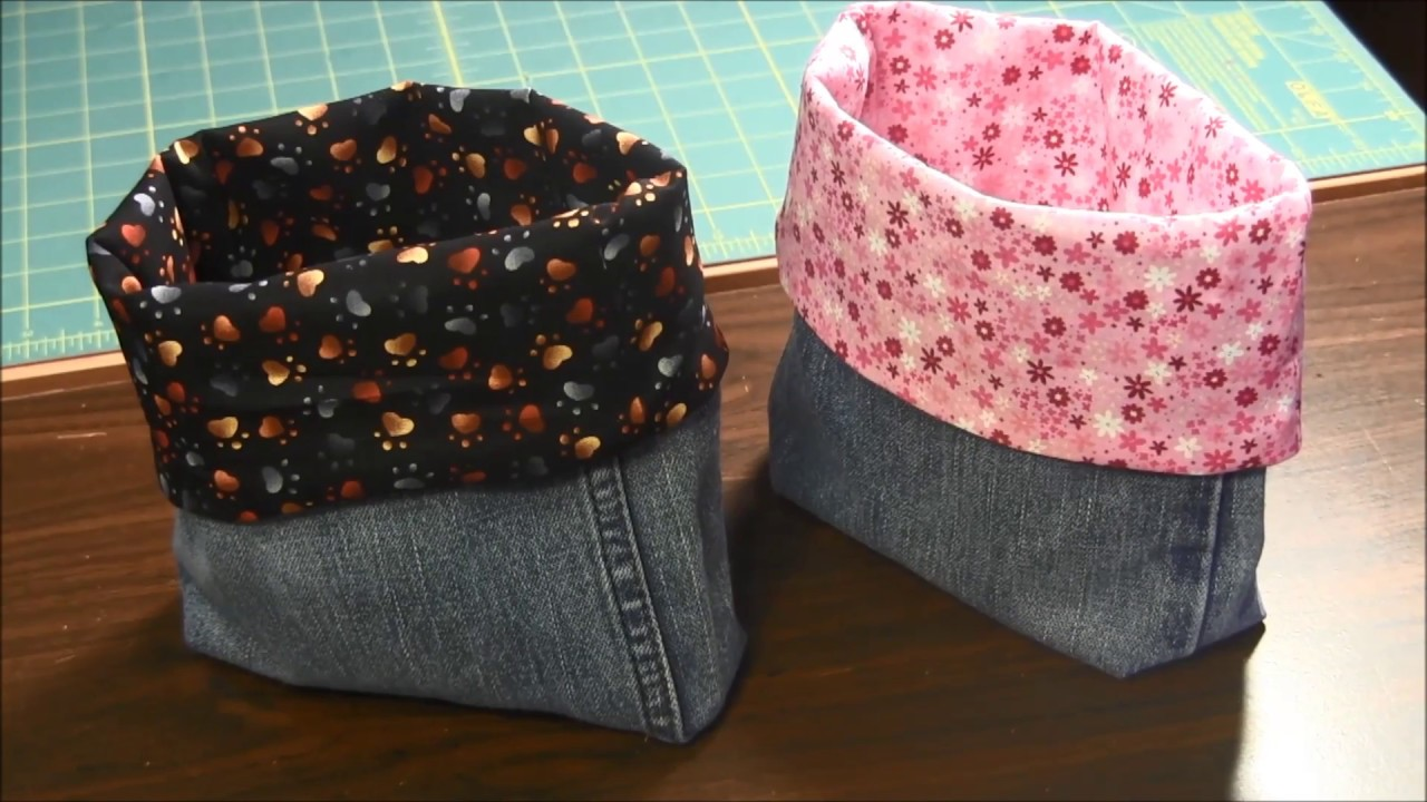 671eaefd18f How to Make A Lined Recycled Denim Jeans Bag - YouTube