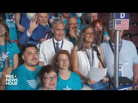Watch Larry Sanders cast his vote for his brother, Bernie, during the 2016 DNC Roll Call