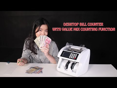 Desktop bill counter with value mix counting function