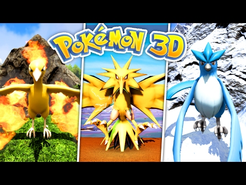 OMG - Getting the LEGENDARY BIRDS! - (Pokemon 3D Ark #8)