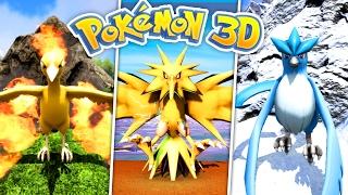 OMG - Getting the LEGENDARY BIRDS! - (Pokemon 3D Ark #8)