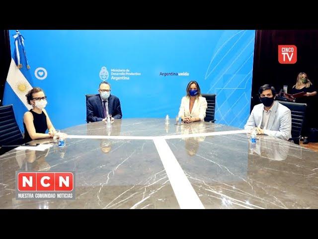 CINCO TV  - Kulfas y Galmarini firman el convenio para el desarrollo de proveedores nacionales