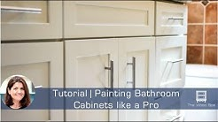 Painting Bathroom Cabinets like a Pro - Speedy Tutorial #14