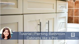 Speedy Tutorial #11 - Painting a Bathroom Vanity like a Pro
