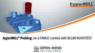 CNC Machining: Probing cycles | FANUC control | hyperMILL |CAM-Software|