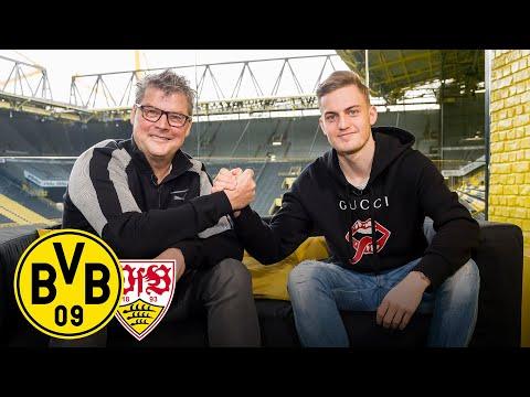 'Reus' shot technique is genius!' | Jacob Bruun Larsen joins Matchday Magazine | BVB - VfB Stuttgart