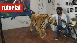 Tiger 3d Tutorial | Live Animals in Your Home Space