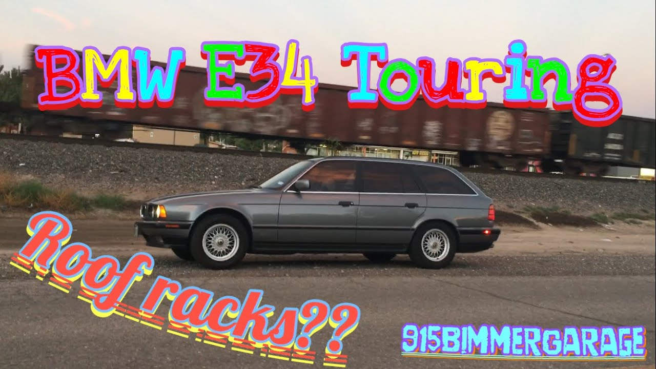 BMW e34 Touring Roof racks? Winner! - YouTube