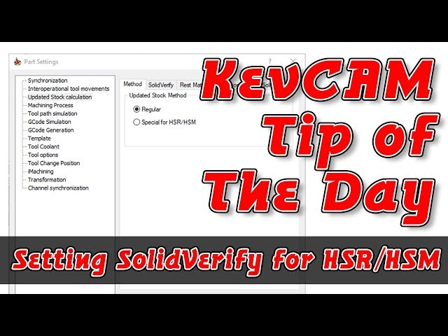 Tip of the Day - Setting SolidVerify for HSR/HSM