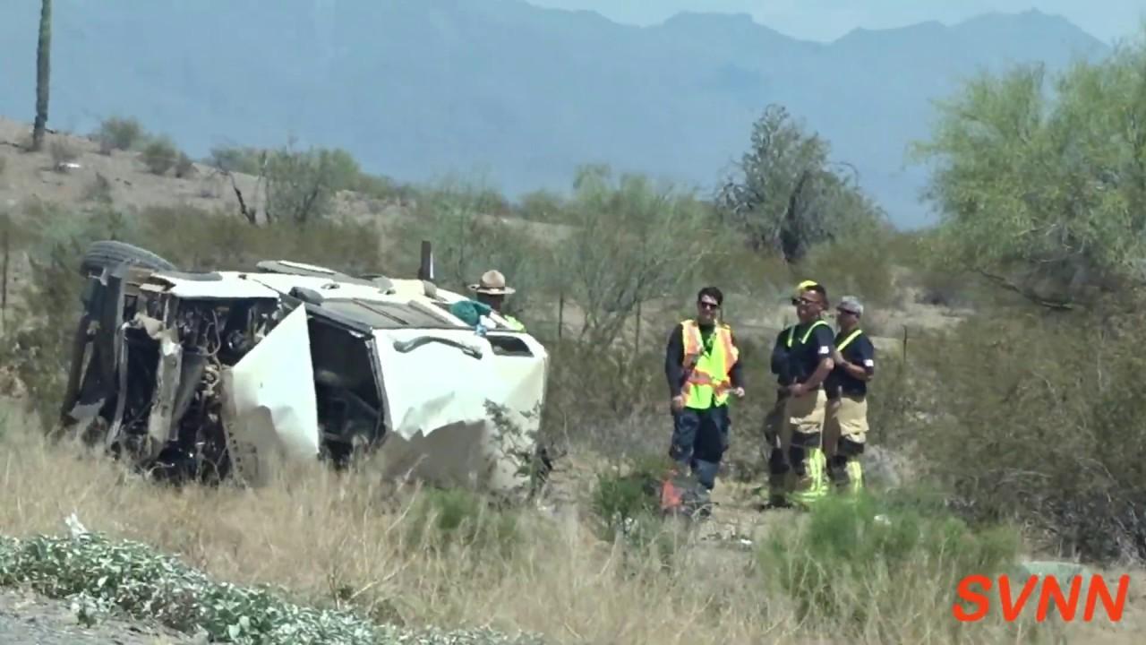 Fatal Rollover Crash on I-10 EB MP110 -- 6/10/2019