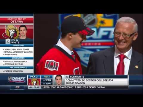 2015 NHL Draft: #21 Overall Pick – Colin White – Ottawa Senators