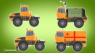 Transformer | Fire Truck | Ambulance | Flatbed Tow Truck | Vehicle For Kids | Carto...