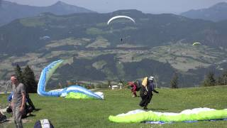 Super Paragliding Testival 2015 Kössen Outtakes Funny Takeoff / Landing Fail Compilation airddicted