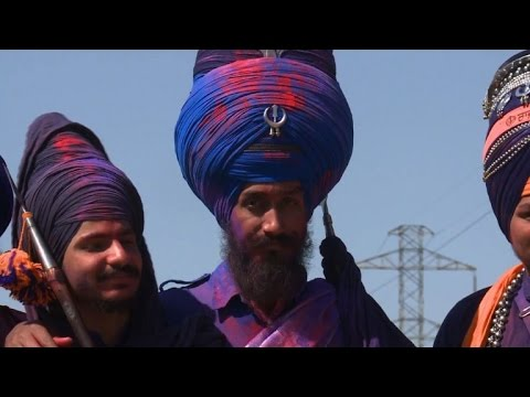 India's Sikh warriors show off martial arts during festival