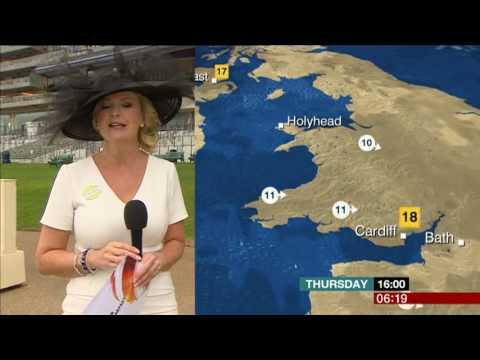 Carol Kirkwood BBC Breakfast Weather At Ascot 2017 06 22