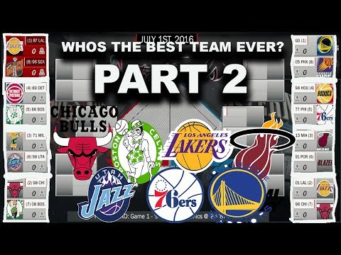 BEST TEAMS EVER IN NBA HISTORY PLAYOFF SIMULATION ON NBA2K17 - PART 2!