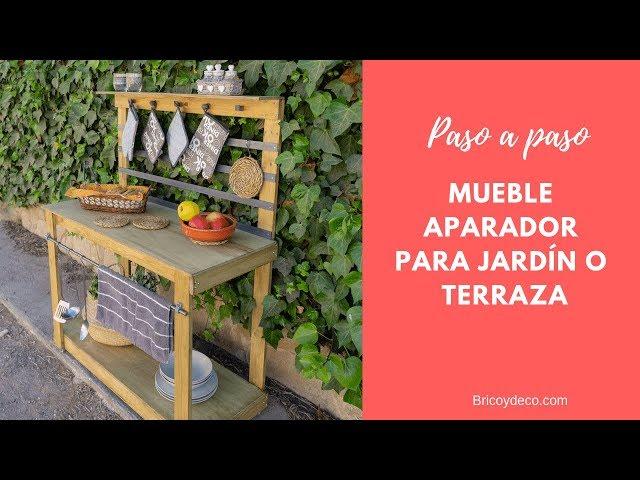 Cómo hacer un MUEBLE DE EXTERIOR PARA TERRAZA O JARDÍN | BRICOLAJE WOODWORKING TIPS