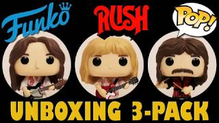 Rock band Rush Funko Pop 3-pack unboxing (Fan Expo Canada exclusive)