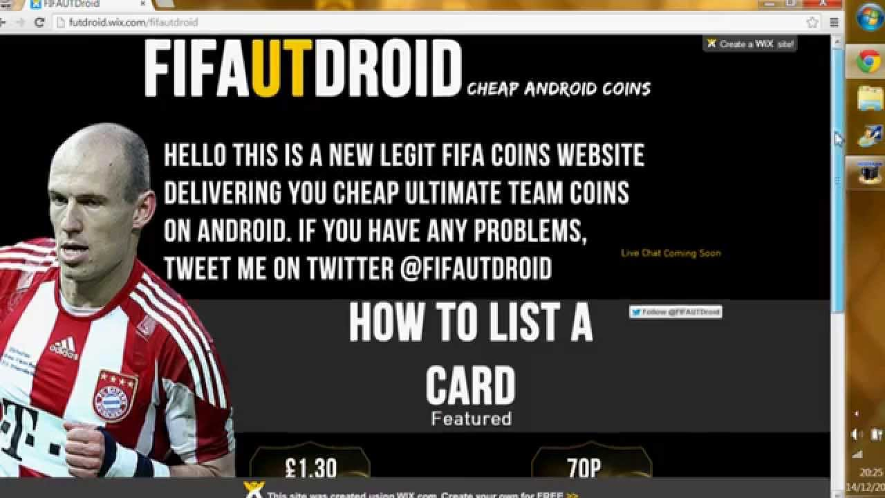 how to make a fifa coin website