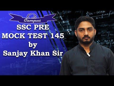SSC PRE MOCK TEST 145 MATHS SOLUTION by Sanjay Khan Sir