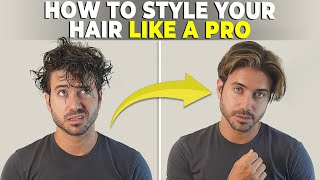 How To Style Your Hair Properly Medium Length Men S Hairstyle Tutorial