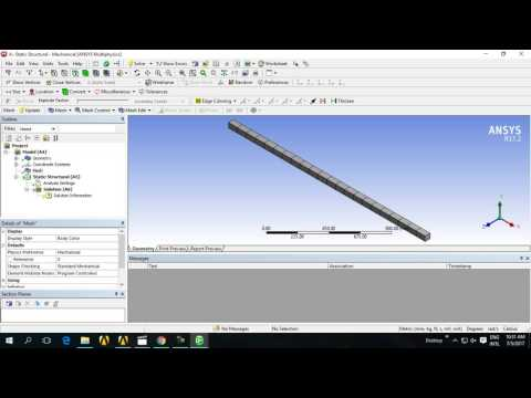Evaluate shear force and bending moment in ansys