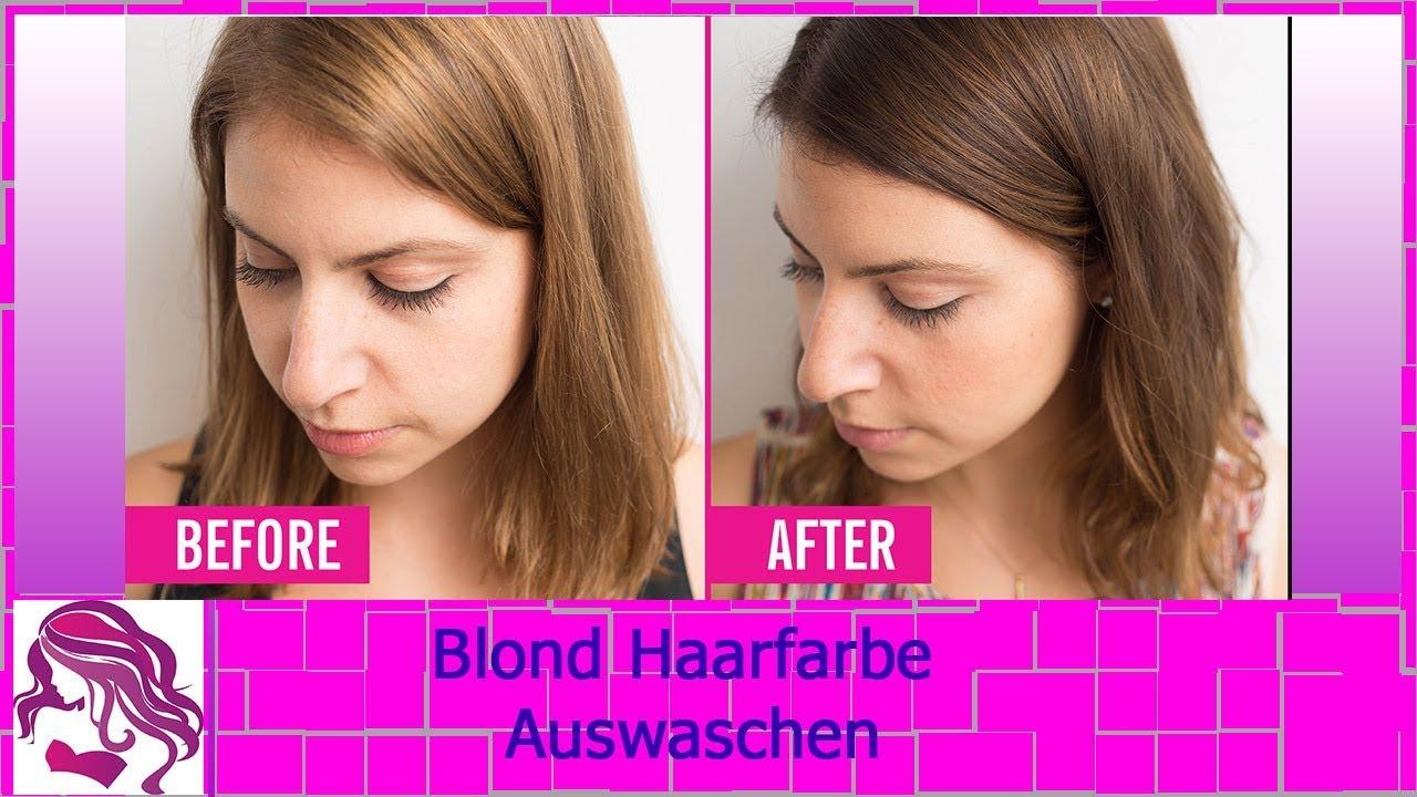 Blonde haarfarbe auswaschen