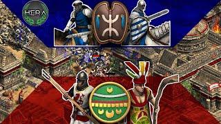 FULL Berber Cavalry vs Aztec Defense