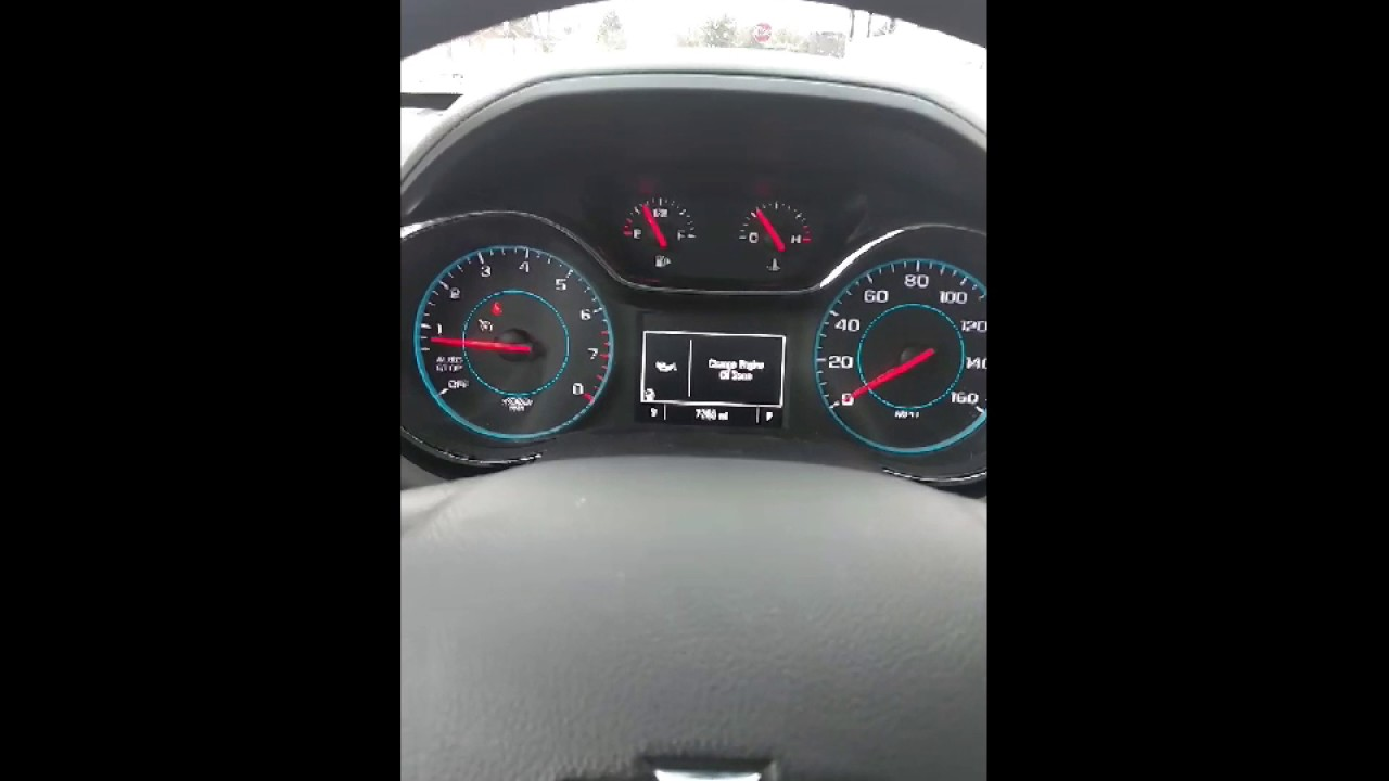 Reset oil change required light 2016 Chevy cruze