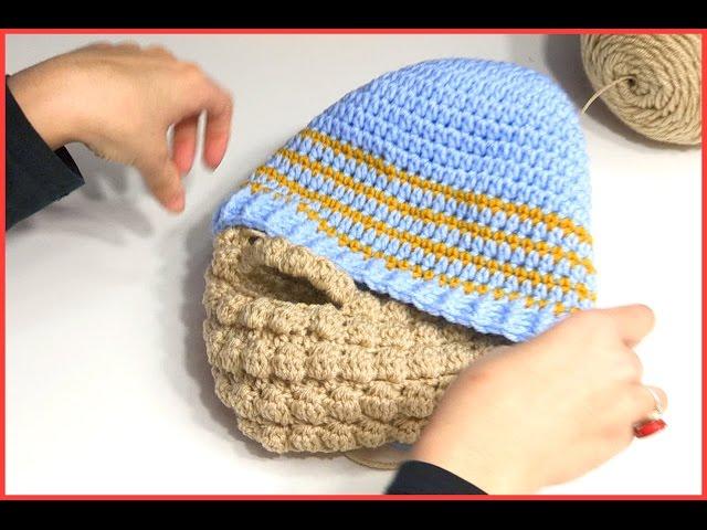 21820114616 Crochet Tutorial  Puff Stitch Beard - YARNutopia by Nadia Fuad YARNutopia  by Nadia Fuad